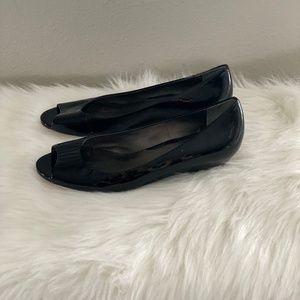 Cole Haan Black Patent Leather Nike Air Wedge